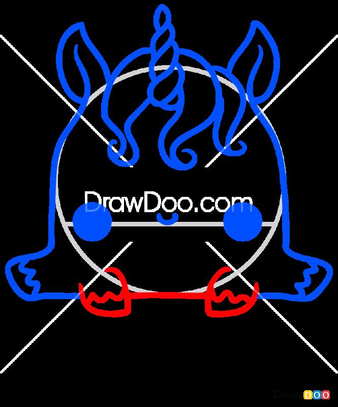 How to Draw Elvish Unicorn, Kawaii