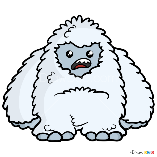 How to Draw Impish Yeti, Kawaii