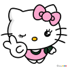 How to Draw Hello Kitty, Kawaii