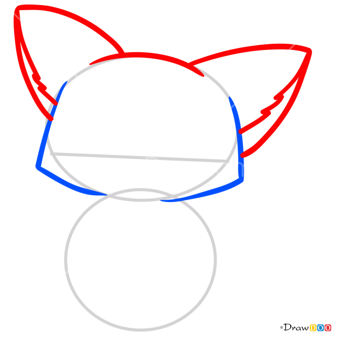 How to Draw Cute Fox, Kawaii
