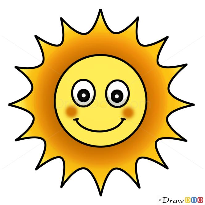 How to Draw Sun, Kids Draw