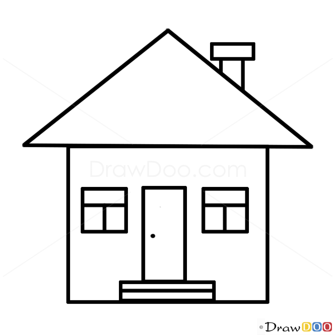 Home drawing for kids for House drawing easy