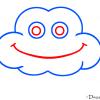 How to Draw Cloud, Kids Draw