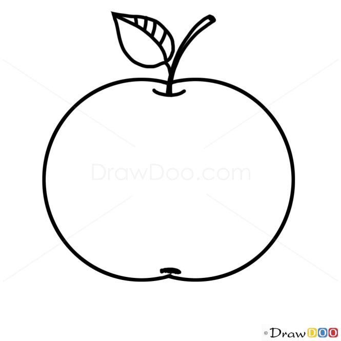 How To Draw Apple Kids Draw