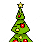 How to Draw Christmas Tree, Kids Draw