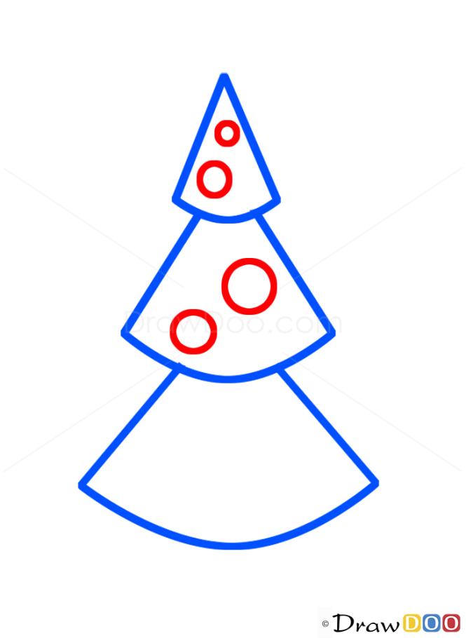 How to Draw Christmas Tree, Kids Draw