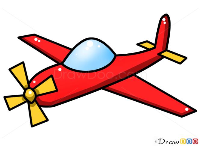 how to draw airplane kids draw