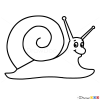 How to Draw Snail, Kids Draw
