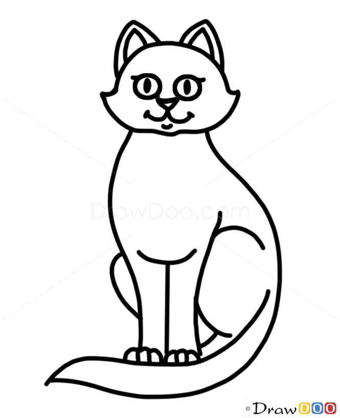 How to draw cat kids draw