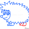 How to Draw Hedgehog, Kids Draw