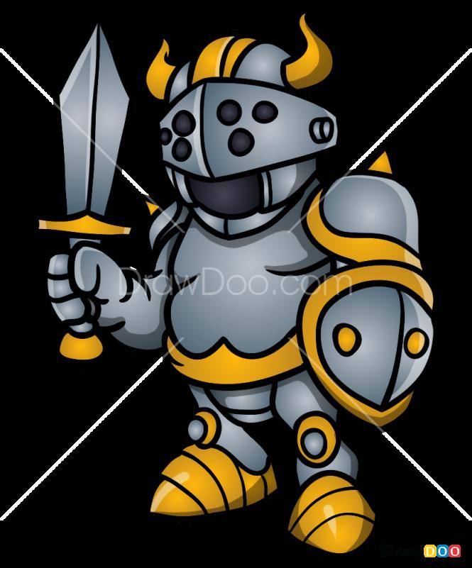 How to Draw Cartoon Knight, Knights