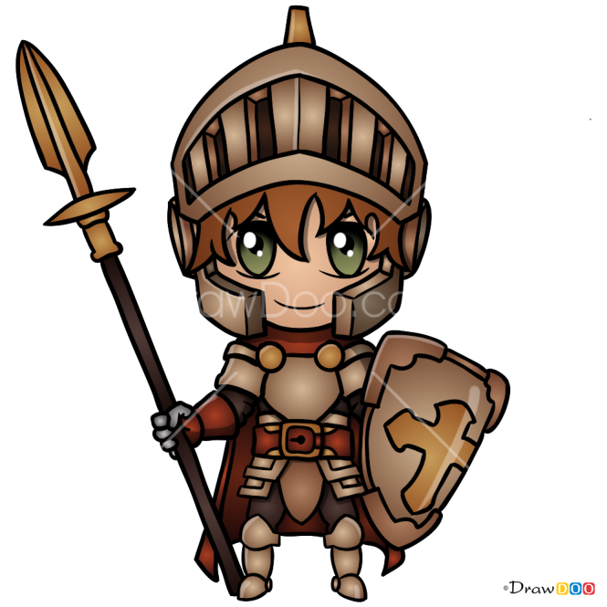 How to Draw Chibi Knight, Knights