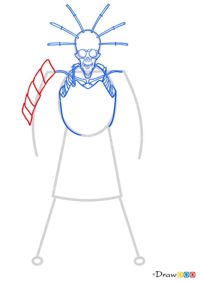 How to Draw Skeleton, Kubo and the Two Strings