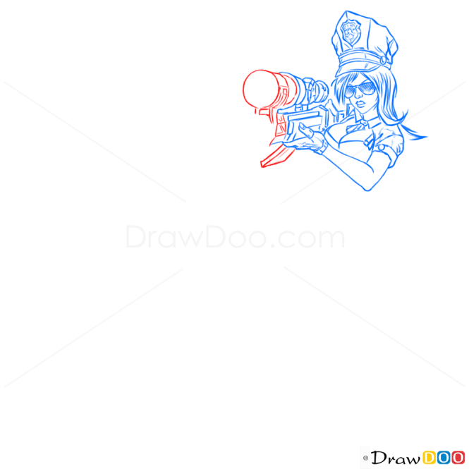 How to Draw Caitlyn, League of Legends