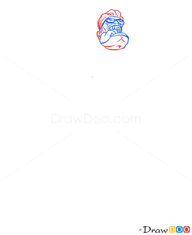 How to Draw Dr. Mundo, League of Legends