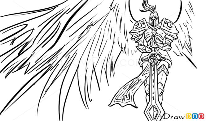How to Draw Kayle, League of Legends