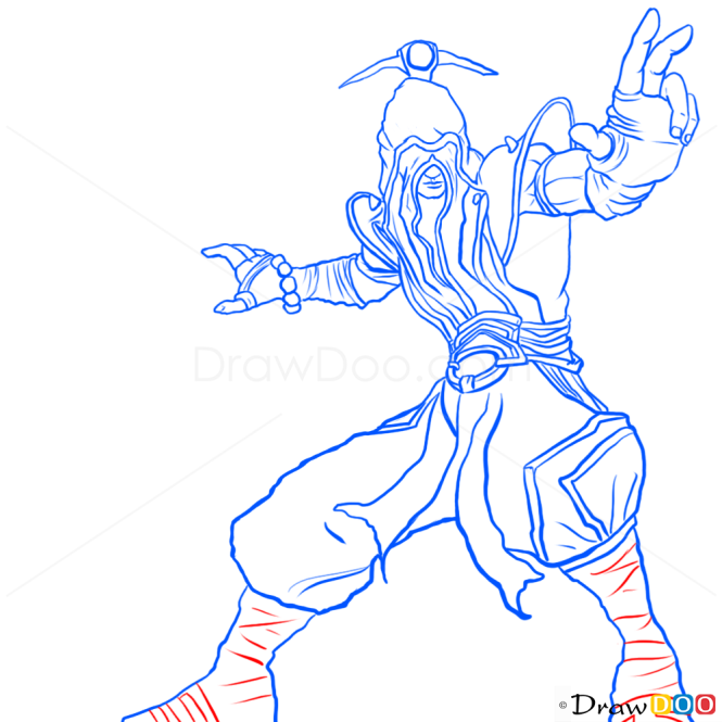 How to Draw Lee Sin, League of Legends
