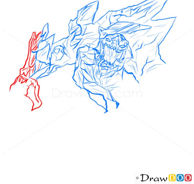 How to Draw Malphite, League of Legends