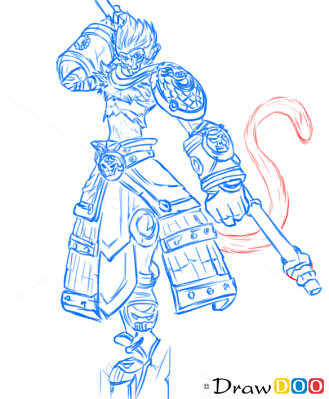 How To Draw Wukong League Of Legends