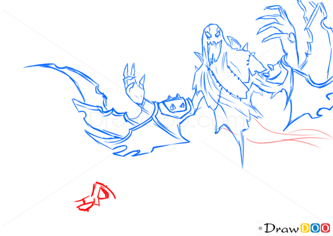 How to Draw Nocturne, League of Legends