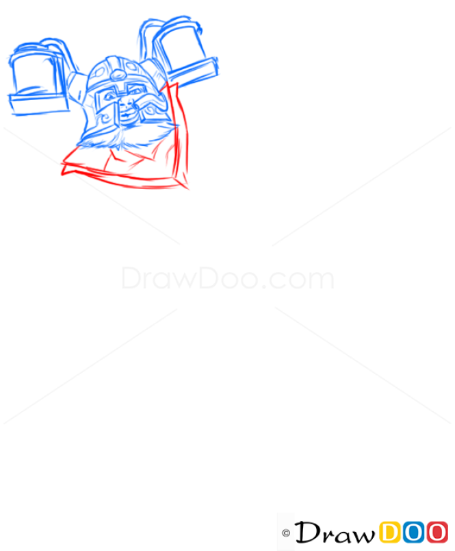 How to Draw Olaf, League of Legends