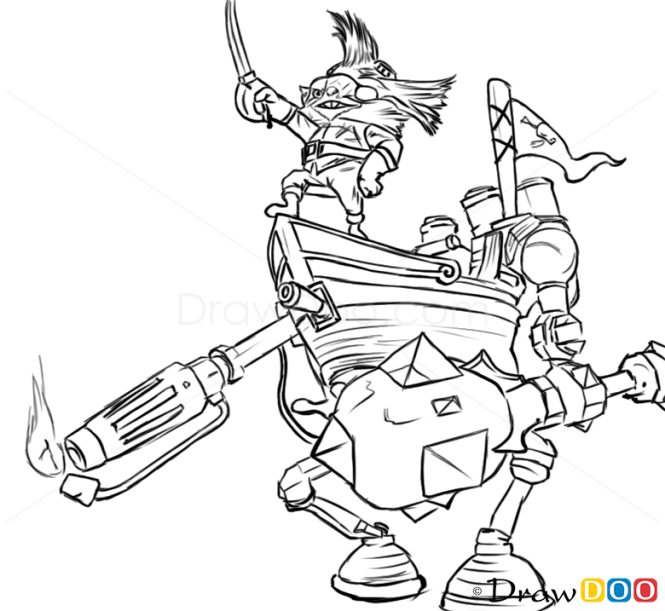 league of legends rumble coloring pages | How to Draw Rumble, League of Legends