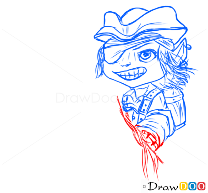 How to Draw Tristana, League of Legends