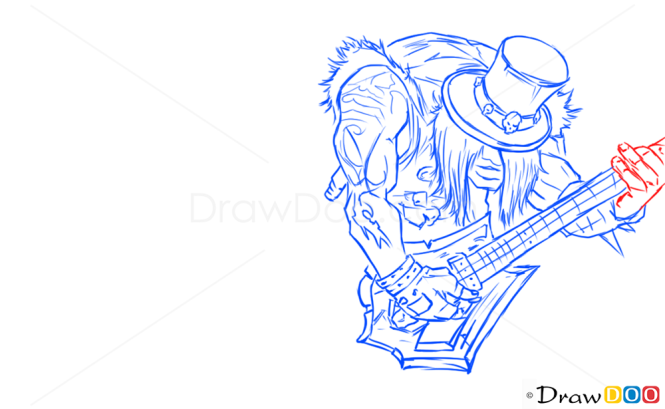 How to Draw Yorick, League of Legends