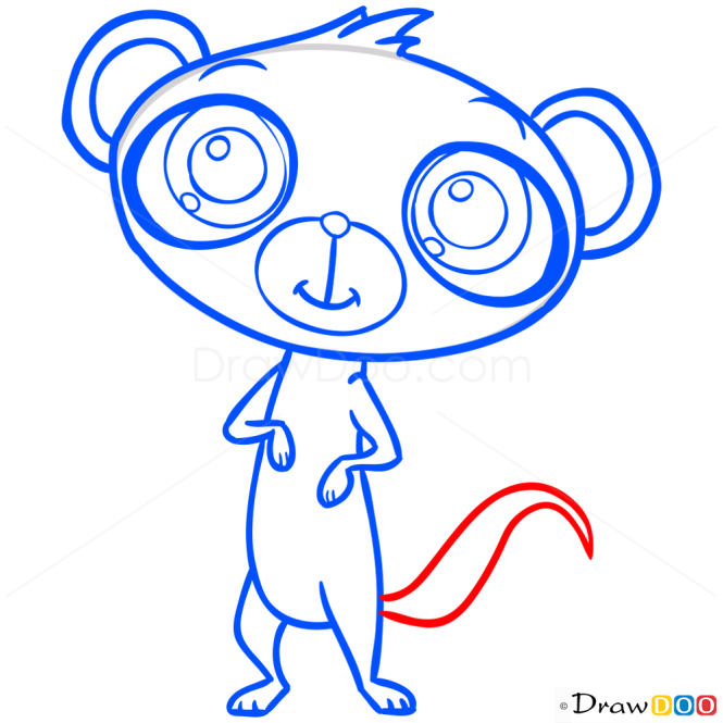 How to Draw Sunil Nevla, Littlest Pet Shop