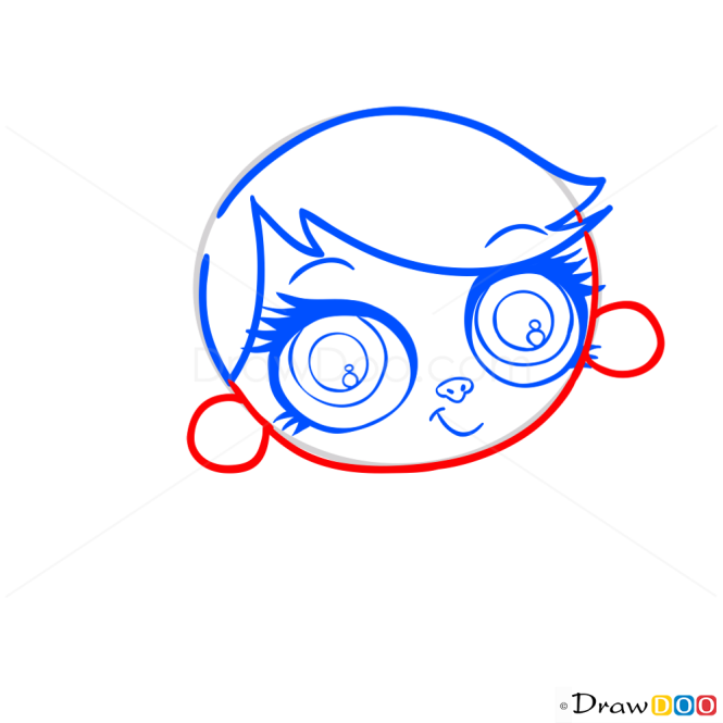 How to Draw Minka Mark, Littlest Pet Shop