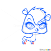 How to Draw Pepper Mildred Clark, Littlest Pet Shop