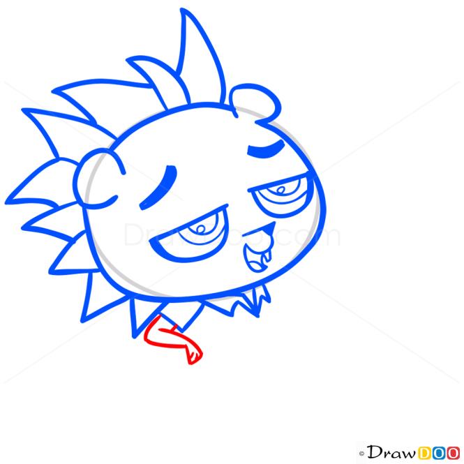 How to Draw Russell Ferguson, Littlest Pet Shop