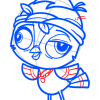 How to Draw Joey Featherton, Littlest Pet Shop