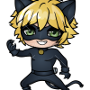 How to Draw Cat Noir Chibi, Ladybug and Cat Noir