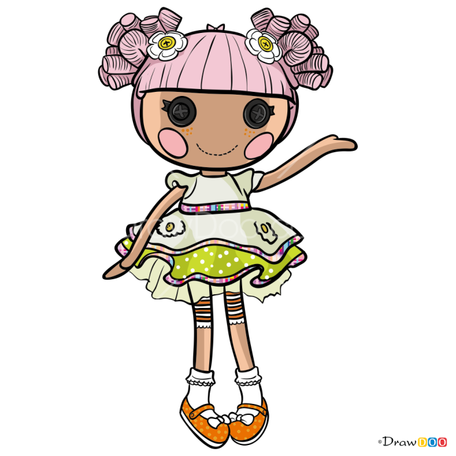 How to Draw Blossom Flowerpot, Lalaloopsy
