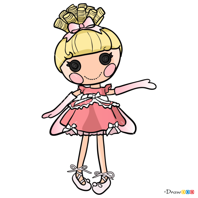 How to Draw Cinderslippers, Lalaloopsy