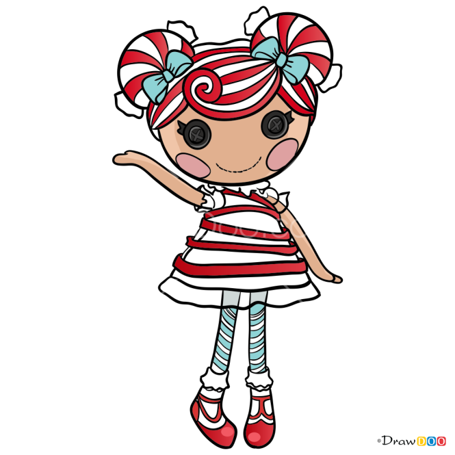 How to Draw Mint E Stripes, Lalaloopsy