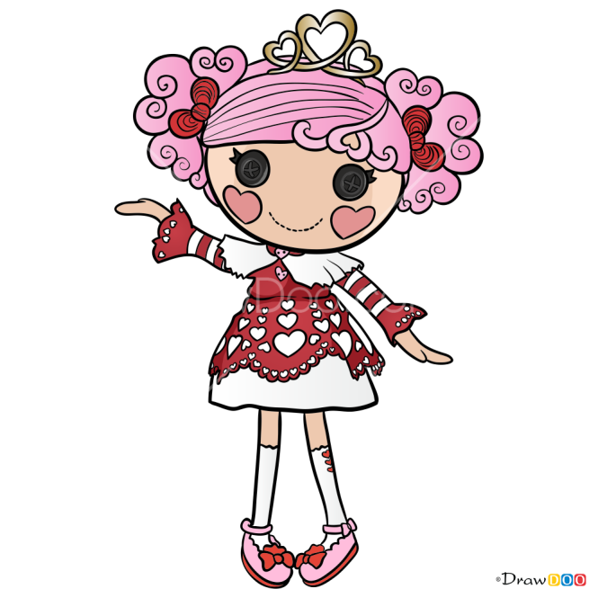 How to Draw Queenie Red Heart, Lalaloopsy