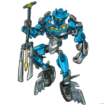 How to Draw Gali, Lego Bionicle