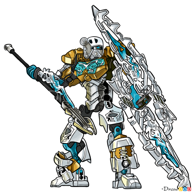 How to Draw Kopaka, Lego Bionicle