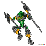 How to Draw Lewa, Lego Bionicle