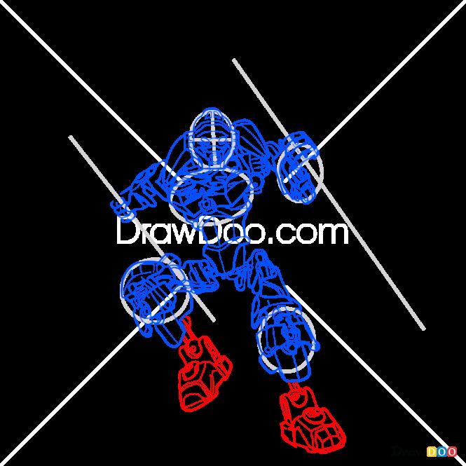 How to Draw Lewa, Lego Bionicle