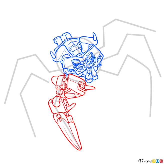 How to Draw Lord Of Skullspiders, Lego Bionicle