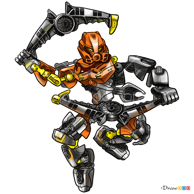 How to Draw Pohatu, Lego Bionicle