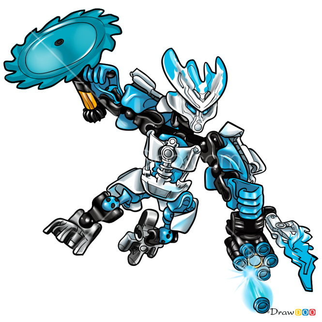 How to Draw Protector Of Ice, Lego Bionicle