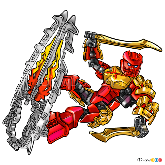 How to Draw Tahu, Lego Bionicle