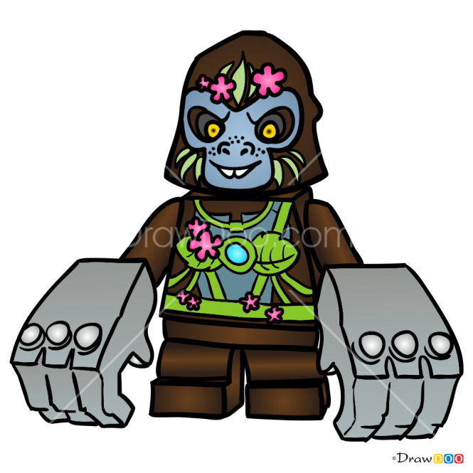 How to Draw Gloona, Lego Chima