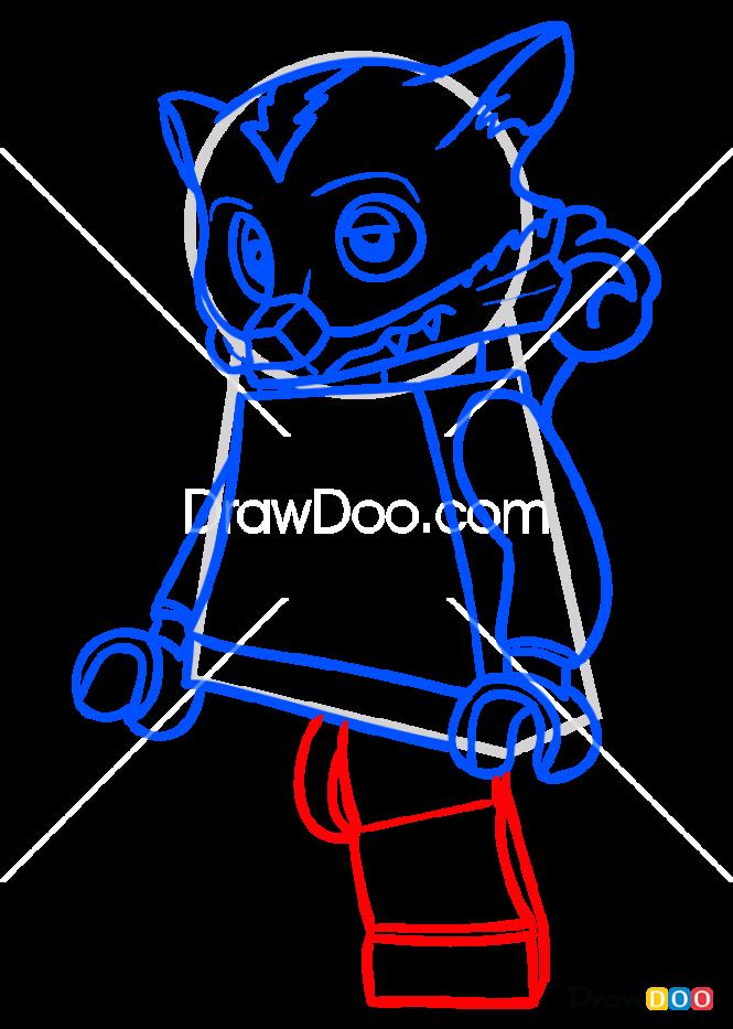 How to Draw Skinnet, Lego Chima