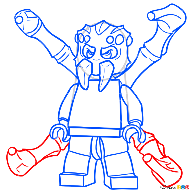How to Draw Sparacon, Lego Chima