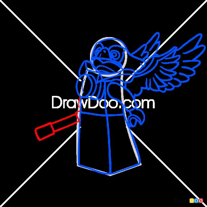 How to Draw Ewald, Lego Chima